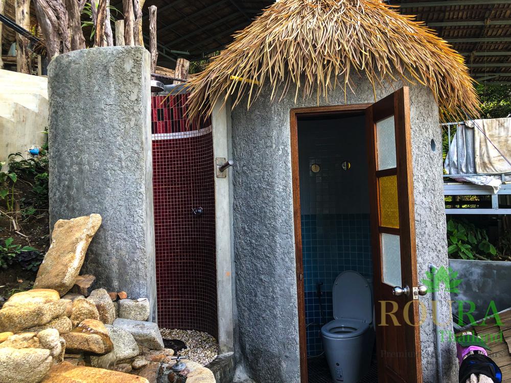 象ビーチ シャワーとトイレ