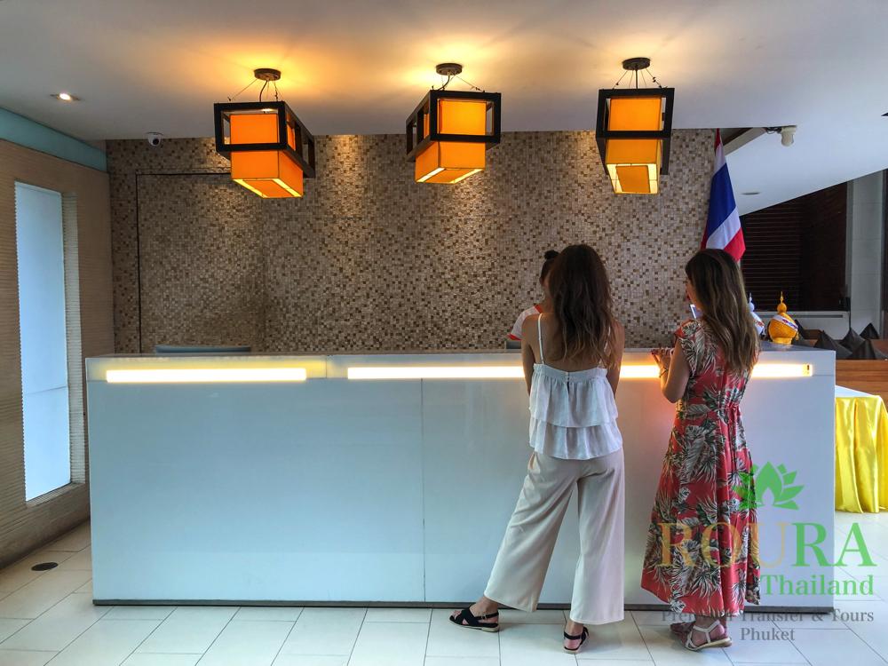 La Flora Resortのレセプション
