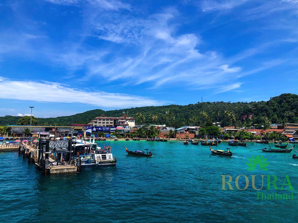 ピピ島ロングテールボート トンサイ港
